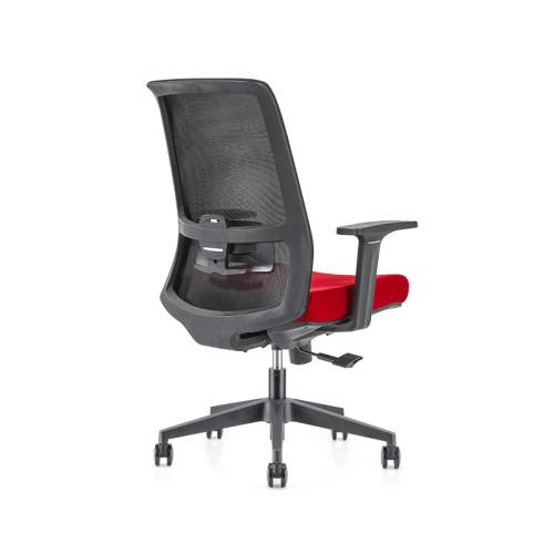 Silla ejecutiva de malla para oficina con respaldo alto con base de nailon, reposabrazos de PP, reposacabezas de altura ajustable (YF-GA10-Red)