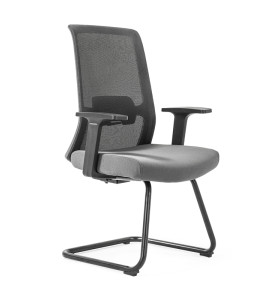 Middle Back Mesh Office Visit Chair With Frosted Base,PP Armrest(YF-GC10)