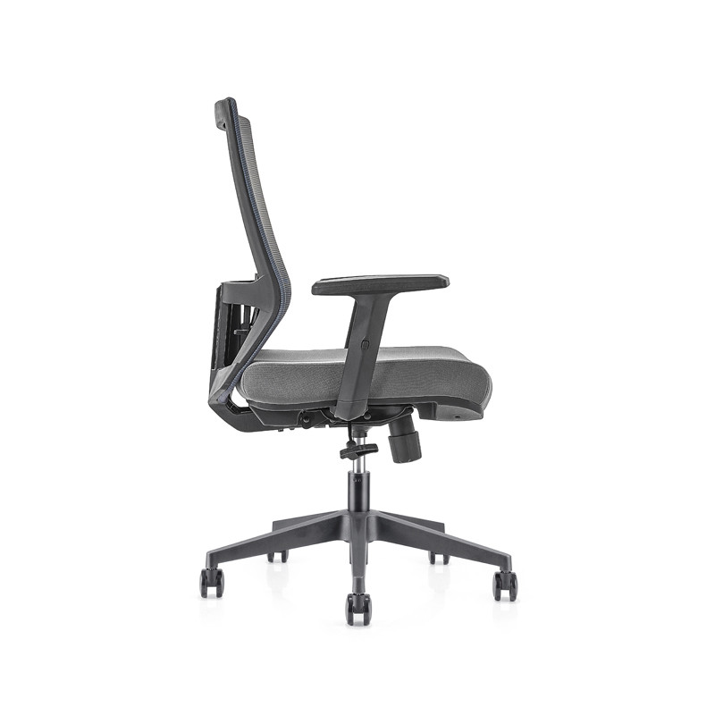 Middle Back office Mesh Chair with 320mm nylon base,PP Armrest(YF-GB12)