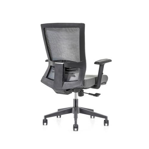 Silla de malla de oficina con respaldo medio con base de nailon de 320 mm, reposabrazos de PP (YF-GB12)