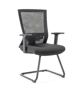 Middle Back Mesh Office Visit Chair With Frosted Base,PP Armrest(YF-GC12)