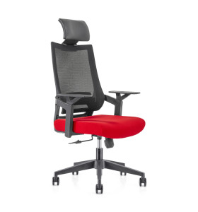 High Back office Mesh Executive Chair with Aluminum base,PP Armrest,Height adjustable headrest(YF-GA13)