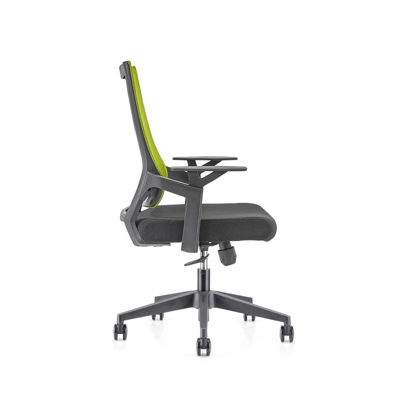 Middle Back office Mesh Chair with 320mm nylon base,PP Armrest(YF-GB13)