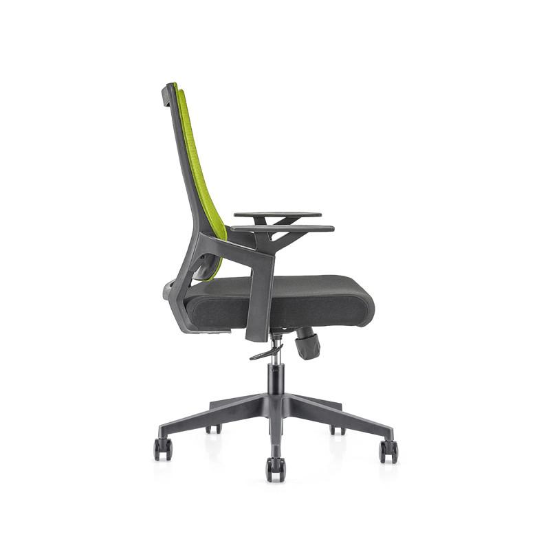 Silla de malla de oficina con respaldo medio con base de nailon de 320 mm, reposabrazos de PP (YF-GB13)