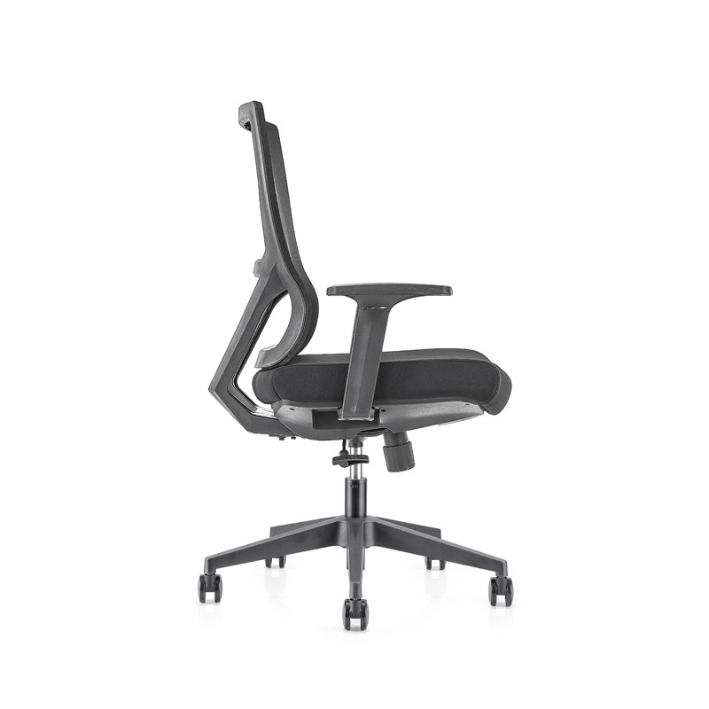 Middle Back office Mesh Chair with 320mm nylon base,PP Armrest(YF-GB15)
