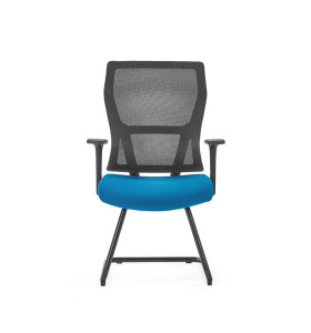 Middle Back Mesh Office Visit Chair With Frosted Base,PP Armrest(YF-GC15)