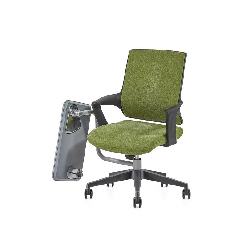 Silla de malla de oficina con respaldo medio con base de nailon de 320 mm, reposabrazos de PP, tablero de escritura (YF-GB16-Green)
