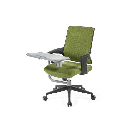 Middle Back office Mesh Chair with 320mm nylon base,PP Armrest,Writing board(YF-GB16-Green)