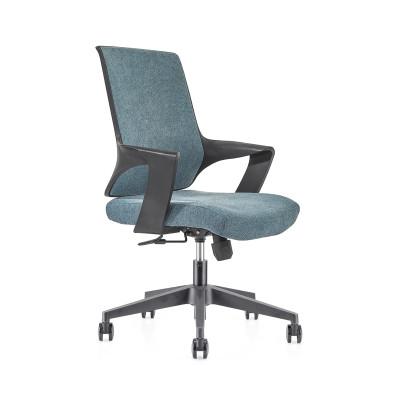 Chaise de bureau central en maille avec base en nylon de 320 mm, accoudoir en PP (YF-GB16-bleu)