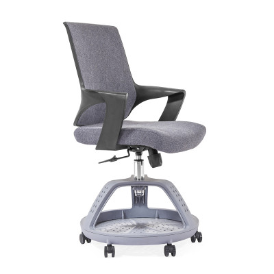 Wholesale Grey Middle back thicken mesh office chair, nylon Base,PP Armrest,Round feet for luggage(YF-GD16)