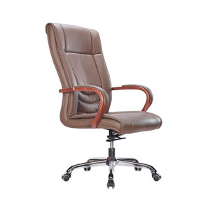 Wholesale High Back PU/Leather Office Executive Chair, alloy armrests, chrome base(YF-9320)