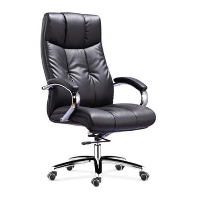 Wholesale High Back PU/Leather Office Executive Chair, chrome armrest, chrome base(YF-9341)