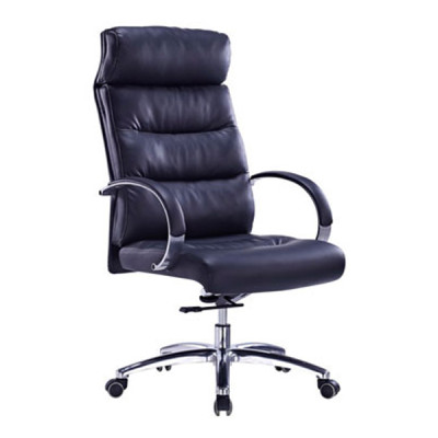Wholesale High Back PU/Leather Office Executive Chair, alloy armrests, chrome base(YF-9332)