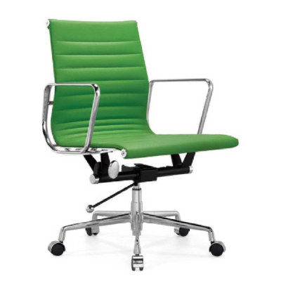 Wholesale Mid-Back PU/Leather Office Executive Chair, Aluminum alloy armrests(YF-B968A-2)