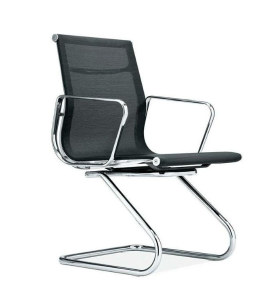 Wholesale Mid-Back Mesh Office Reception and Guest Chair With Aluminum Alloy Armrests(YF-C968F-1)