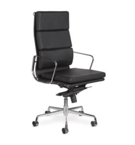 Wholesale High Back PU/Leather Office Executive Chair, Aluminum alloy armrests(YF-968A-3H)