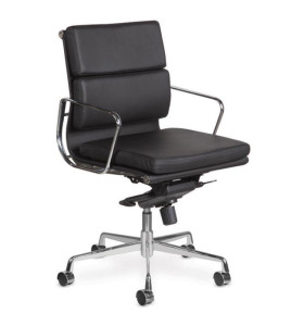 Wholesale middle Back PU/Leather Office Executive Chair, Aluminum alloy armrests(YF-B968B-3H)