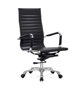 Wholesale High Back PU/Leather Office Executive Chair,Iron plating frame(YF-A985A-2)
