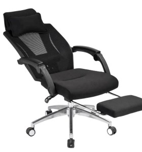 High back lunch break reclining office mesh chair with footrest(YF-Q57)
