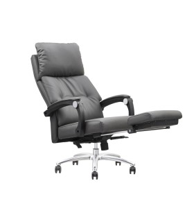 Wholesale Ergonomic Leather Office Reclining Chair With Footrest (YF-A102)