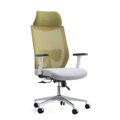 High Back Office Mesh Executive Chair With Aluminum Base And Armrest(YF-A237)