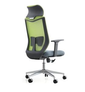Chaise de direction en maille de bureau à dossier haut avec accoudoir fixe en PP (YF-A237-1)