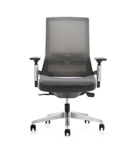 Middle Back Office Mesh Task Chair With Aluminum Base(YF-A681BA)