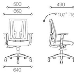 Silla de trabajo de malla de oficina central con base de aluminio (YF-683B-20)