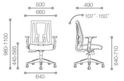 Среднее рабочее место сетки бэк-офиса с алюминиевым основанием (YF-683B-20)