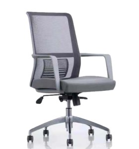 Middle Back Office Mesh Task Chair With Aluminum Base(YF-6628S)