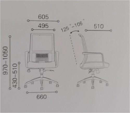 Средний бэк-офис сетчатый стул с алюминиевым основанием (YF-6628S)