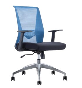 Middle Back Office Mesh Task Chair With Aluminum Base(YF-6630B-119)