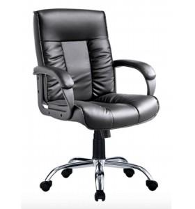 Chaise de bureau exécutif en cuir à mi-dos moderne en gros (YF-B239)