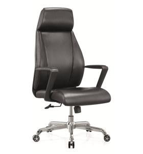 Chaise de bureau exécutif en cuir à dossier haut moderne en gros (YF-A238)
