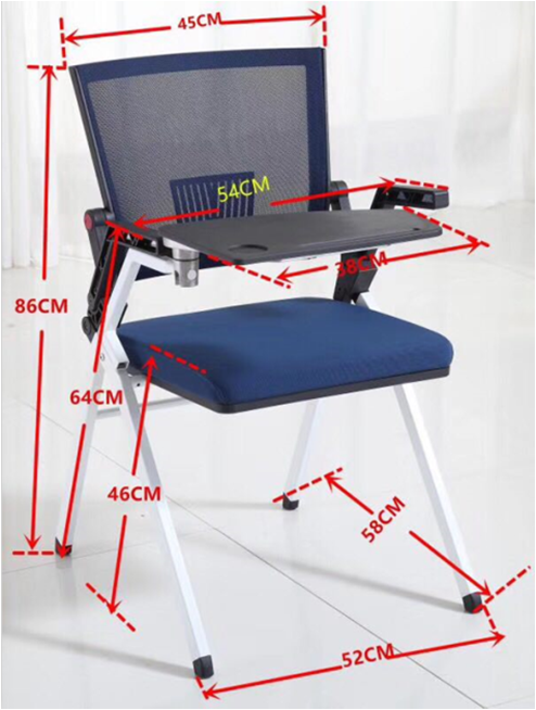 Y&F Modern Office Foldable Training Chair, Aluminum Tablet With PP (LY-K1-D)