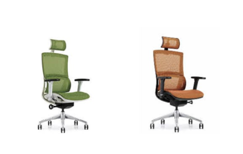 High back mesh office Reclining chair with ergonomic and rotating design(YF-A810)