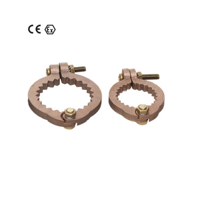 ATEX approved bronze pipe clamps which can be adjested from 1