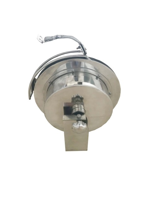 Copper tape retractable ground cable reel for earthing lightning protection system