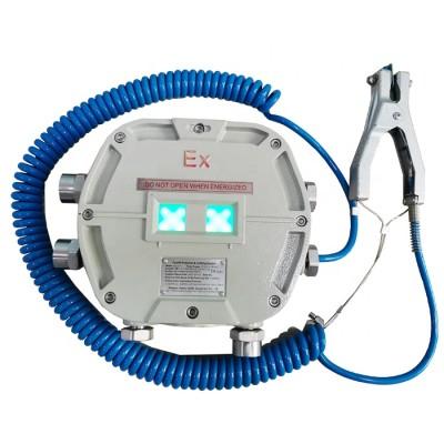 Static ground monitor for road tanker loading gantries