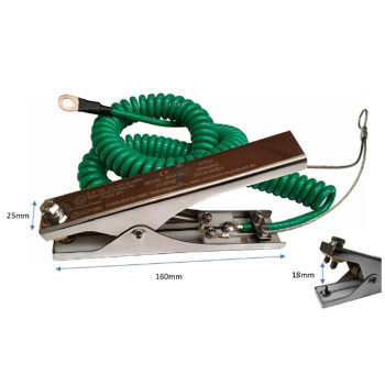 Grounding & Bonding Static Earthing 316L SS Clamp with cable