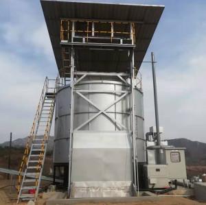 Intelligent vertical aerobic pig manure compost fertilizer machine