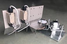 Corner wheels for Swine crate manure scraper