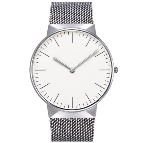 Custom Logo Sapphire Crystal Men Minimalist Watch With Mesh Strap