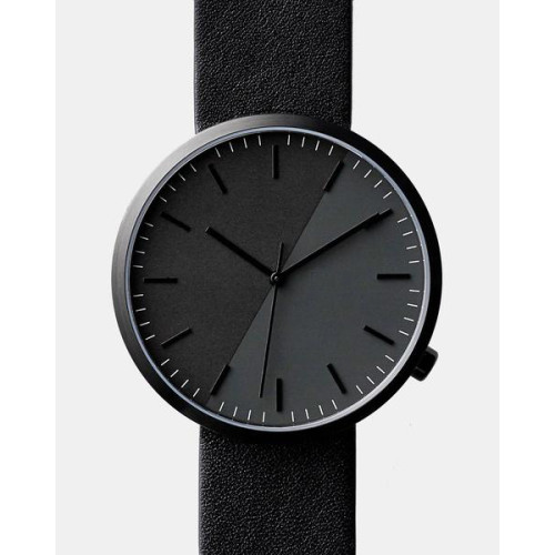 Stainless Steel Case Genuine Leather Strap Vintage Men Watches With Cheap Price