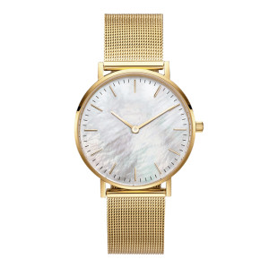 Fashion Gold Luxury Private Label Branded Hand Stainless Steel Quartz Leather Man Wrist Watch for Men