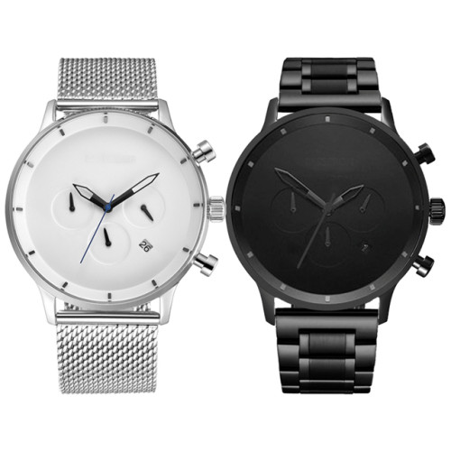 New Style Sports Chronograph Stainless Steel Watches With Good Quality Automatic Movement