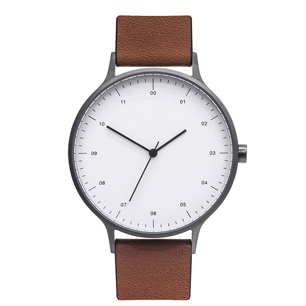 New Fashion Mens Watches Simple Dial Casual Leather Watch Analog Quartz Wristwatches Man Clock