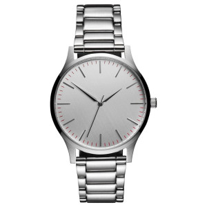 high quality private label leather strap ultra thin simple men minimalist watch
