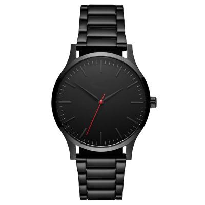 High-end stainless steel unisex minimalist watch with quartz movement watch cheap price