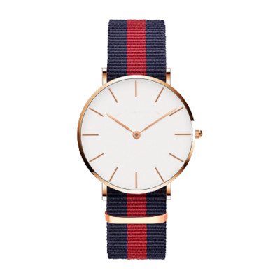 New Fashion Design Custom Brand Name Minimalist Nylon Strap Wrist Watch